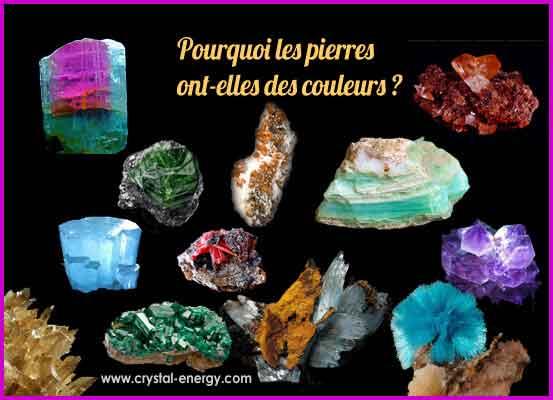 Pourquoi les pierres ont-elles des couleurs ?