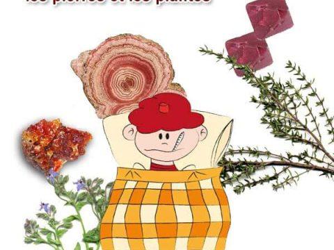 soins des enfants avec les pierres et les plantes