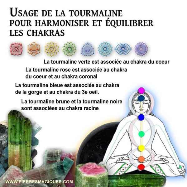 Comment utiliser la tourmaline pour harmoniser et équilibrer les chakras