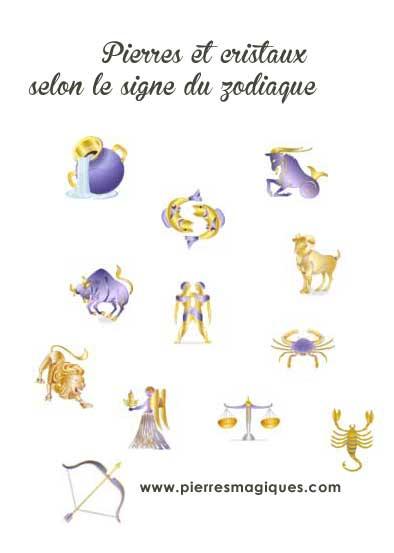 pierres par signe du zodiaque