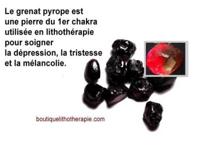 propriétés grenat pyrope lithothéRapie