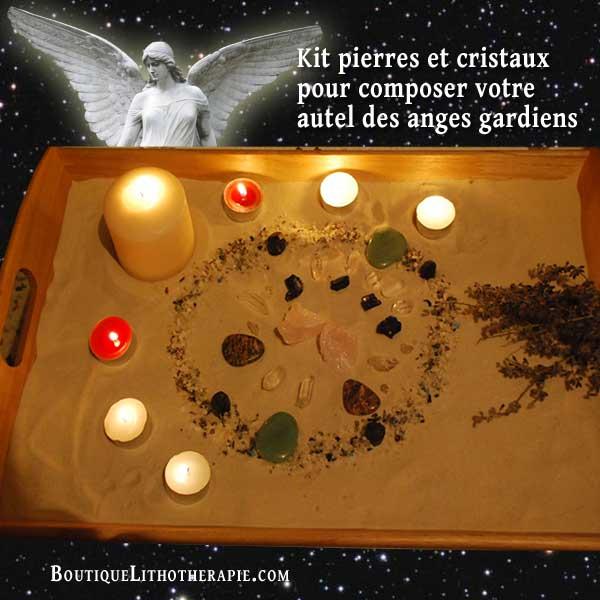 autel de cristal pour anges gardiens