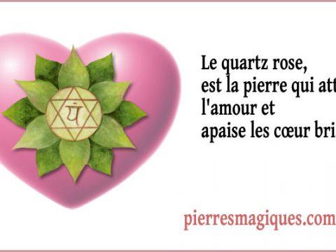 Le quartz rose, la pierre qui attire l'amour et apaise les cœur brisés