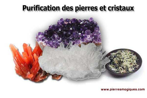 comment purifier une pierre méthodes de purification par cristal en ordre alphabétique sur Boutiquelithotherapie.com