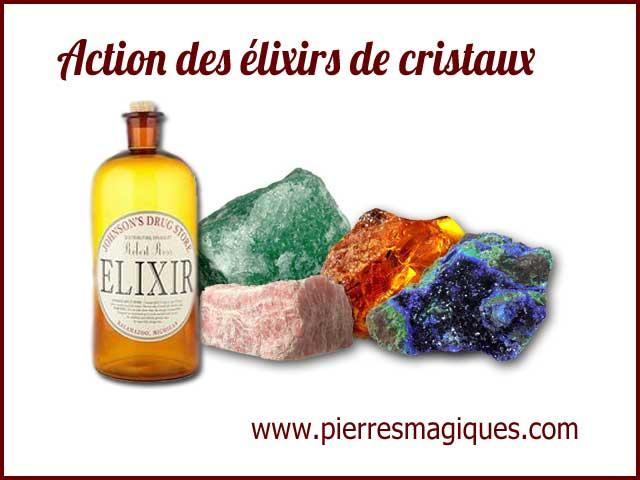 Action des élixirs de cristaux