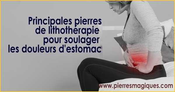 Pierres de lithothérapie pour soulager les douleurs d'estomac