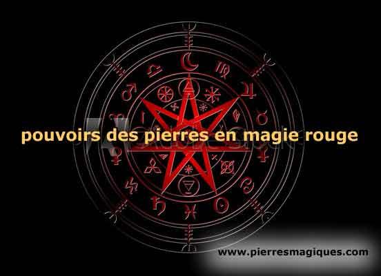 pouvoir pierres magie rouge