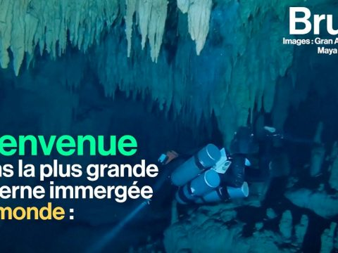 La plus grande caverne immergée au monde vient d'être découverte au Mexique