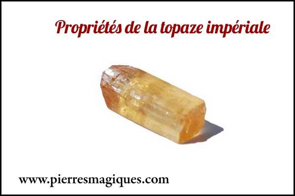 La topaze impériale est une pierre de protection très puissante pour lutter contre l'insomnie et protéger contre le mauvais œil