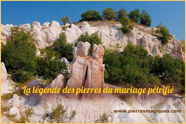 La légende des pierres du mariage pétrifié