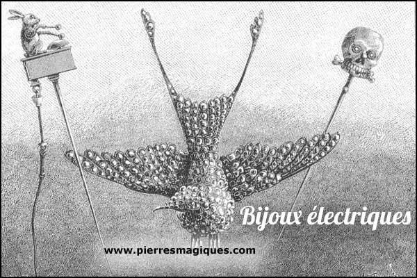 bijoux électriques de Gustave Trouvé le lapin en or www.pierresmagiques.com