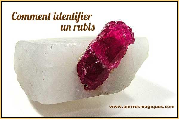 comment identifier un rubis