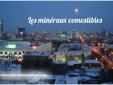 minéraux comestibles