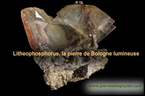 Litheophosphorus, la pierre de Bologne lumineuse - www.pierresmagiques.com