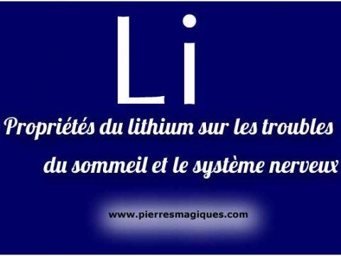 Propriétés du lithium sur les troubles du sommeil et le système nerveux