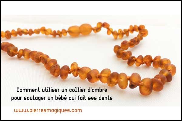 Comment utiliser un collier d'ambre pour aider un bébé qui fait ses dents
