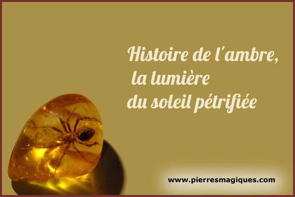 Histoire de l'ambre, la lumière du soleil pétrifiée