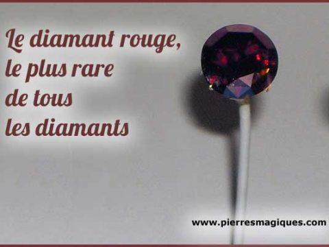 Le diamant rouge, le plus rare de tous les diamants