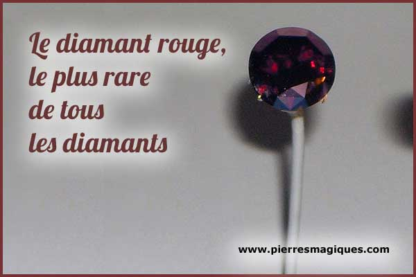 Le diamant rouge, le plus rare de tous les diamants