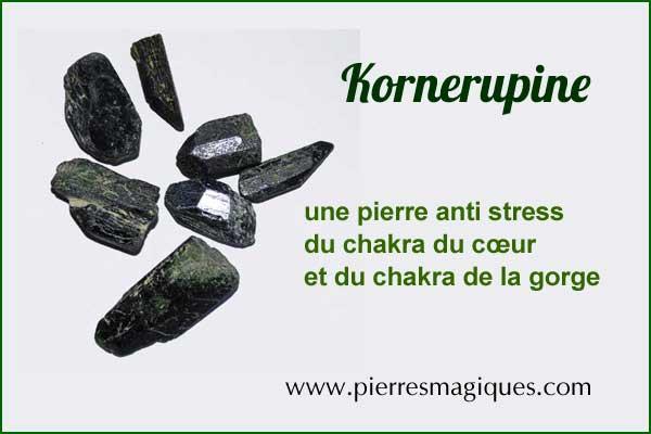 La Kornerupine , une pierre anti stress du chakra du cœur
