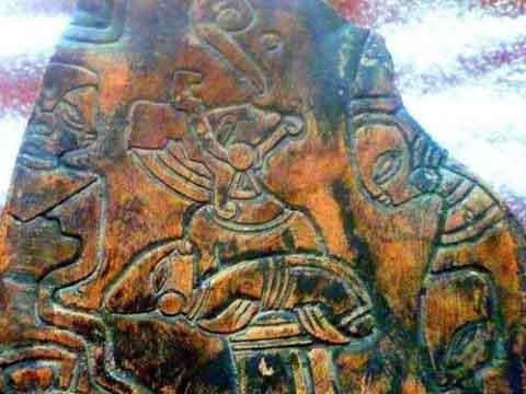 pierres gravées représentants des extra terrestres