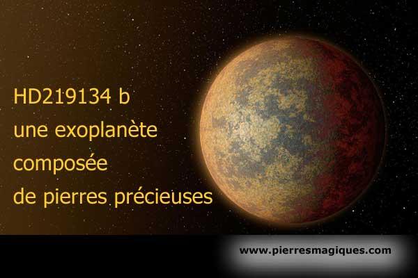 HD219134 b, une nouvelle exoplanète composée de pierres précieuses