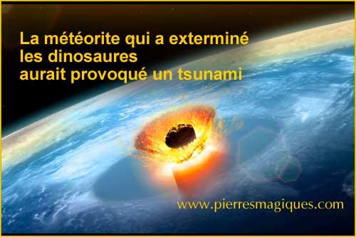 La météorite qui a exterminé les dinosaures aurait provoqué un tsunami