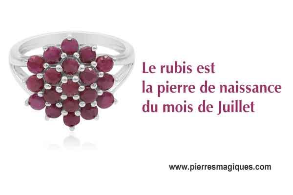 bague en rubis naturel