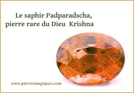 Le saphir Padparadscha, pierre rare du Dieu Krishna