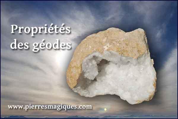 proprietes des géodes de cristal de roche