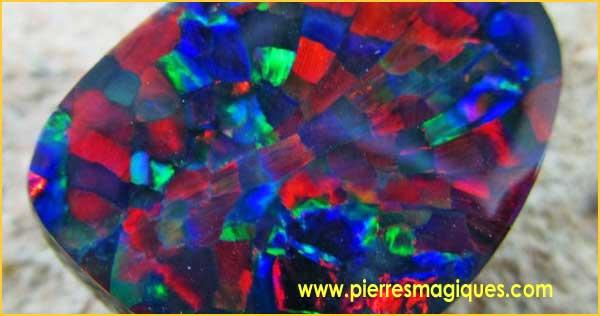 La fabuleuse opale arlequin