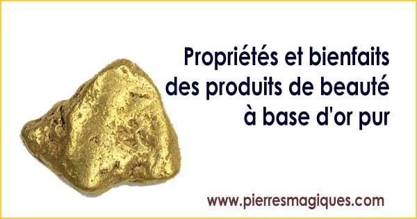 produits de beauté à base d'or pur