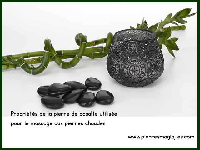 Propriétés de la pierre de basalte utilisée pour le massage aux pierres chaudes