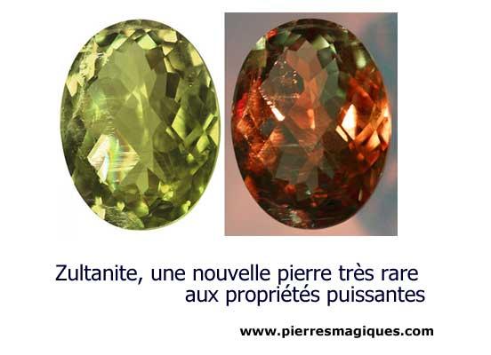 Zultanite pierre rare aux propriétés puissantes - www.pierresmagiques.com