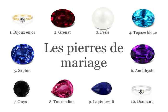 bijoux pierres de mariage