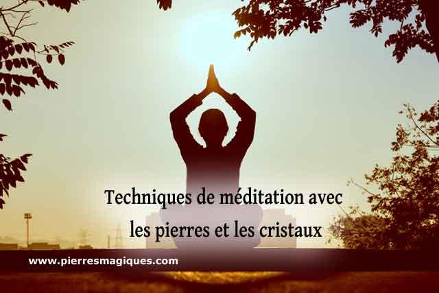 Meditation Pierres Cristaux