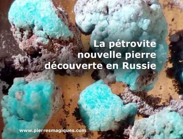 Petrovite Nouvelle Pierre