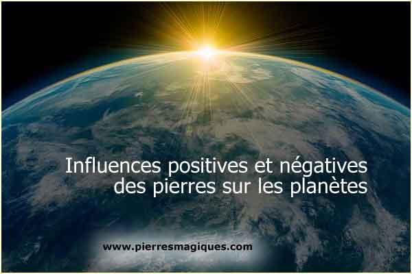 Influence Pierres Precieuse Planetes