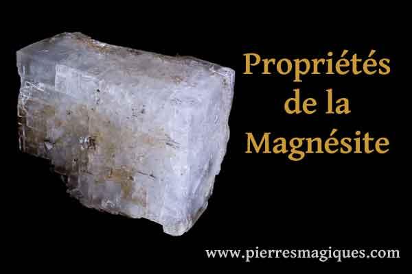 Propriétés de la magnésite