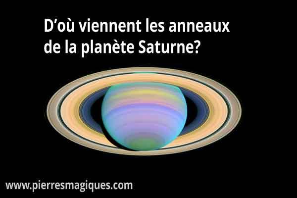 D'où viennent les anneaux de la planète Saturne ?